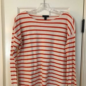 J. Crew Striped Long Sleeve Boatneck Shirt